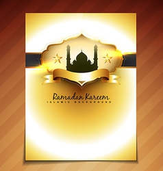 Golden festival template vector