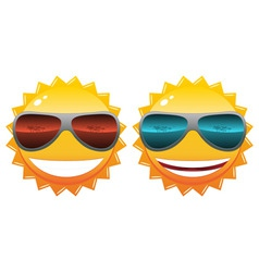 Sun in sunglasses vector