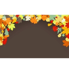 Brown autumnal background vector