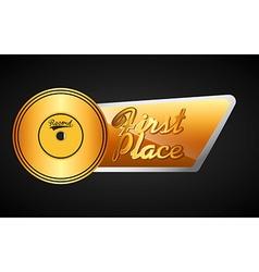 music award design vector image