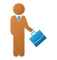 Child manager gradient icon vector