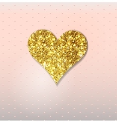 Abstract background with gold glitter heart vector