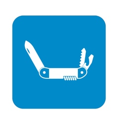 Camping knife icon vector