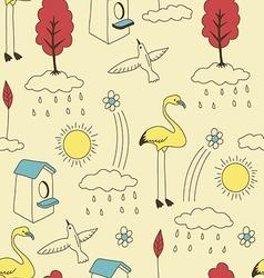 Natural vintage lifestyle pattern vector
