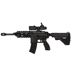 Automatic gun vector image