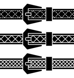 Buckle belt black symbols vector