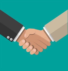 Businessmans handshake shaking hands vector