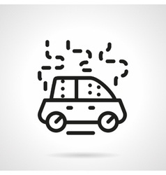 Car damage black line icon vector