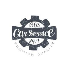 Car Service Black Vintage Stamp vector image vector image