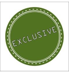 Exclusive icon badge label or sticke vector