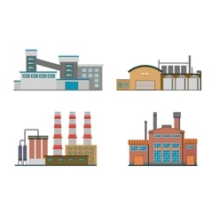 Flat Factory Buildings vector image