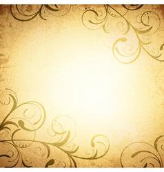 Floral Vintage Grunge Background vector image vector image