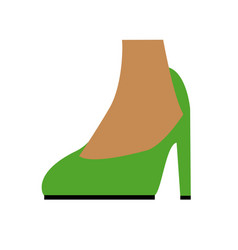 Green fashionable feet high heel dancer vector
