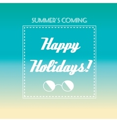 Happy holidays banner vector