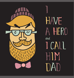 hero dad two vector image vector image