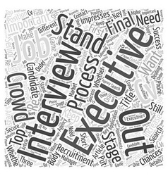 How To Stand Out In The Jobs Crowd Word Cloud vector image vector image