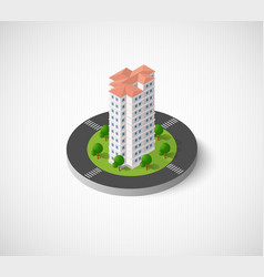 Icon dimensional building vector