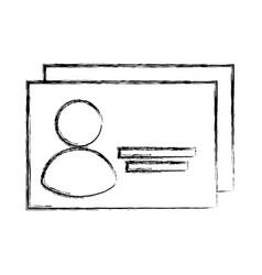 identification badge isolated icon vector image