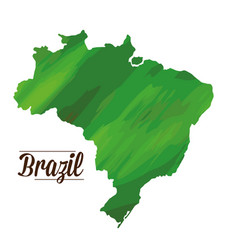 isolated brazilian map vector image vector image
