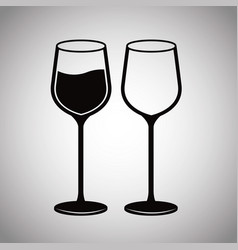 Pair glassware wine image vector