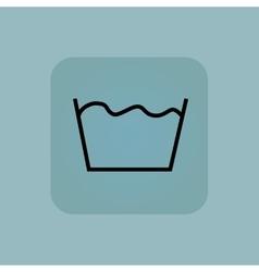 Pale blue wash icon vector