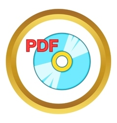 Pdf book icon vector