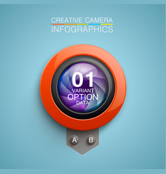 photography camera icon background vector image vector image