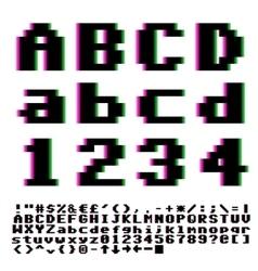 Pxiel font vector image vector image