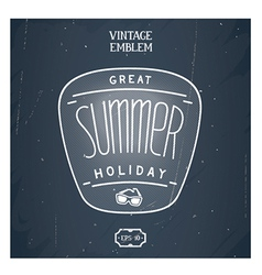Retro handmade summer emblem vector