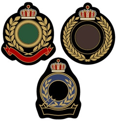 royal badge emblem vector image vector image