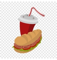 Sandwich and soda vector