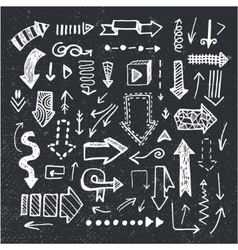 set of hand drawn doodle arrows isolated vector image vector image