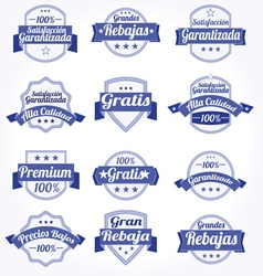 spanish retro sale labels vector image vector image