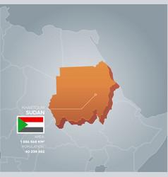 Sudan information map vector
