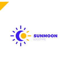 sun and moon logo abstract vector image
