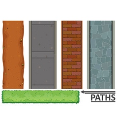 Variety of paths and textures vector