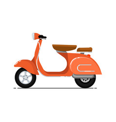 vintage scooter isolated on white icon vector image vector image