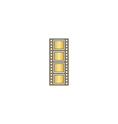 Film strip computer symbol vector