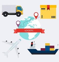 Global logistic infographics elements flat vector