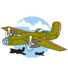 Bomber plane vector image