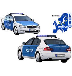 estonia police car vector image