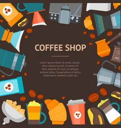 Coffee shop banner card vector