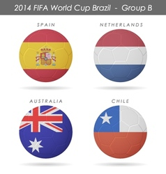 2014 fifa world cup group b countries vector