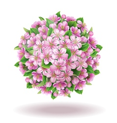Blooming ball vector