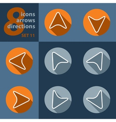 Set of eight arrows - in all directions vector