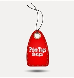 Red price-tag vector