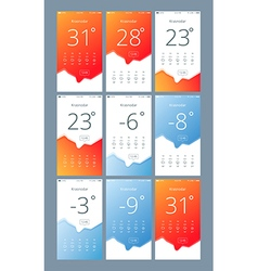 set phone interface with the weather vector image
