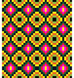 Old fashioned square ornament with dominant vector