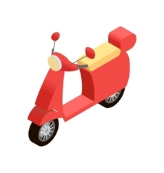 Isometric motorbike icon vector