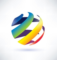 Abstract rainbow globe icon vector